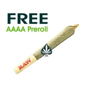 FREE 5 AAAA PREROLLS ABOVE $1000