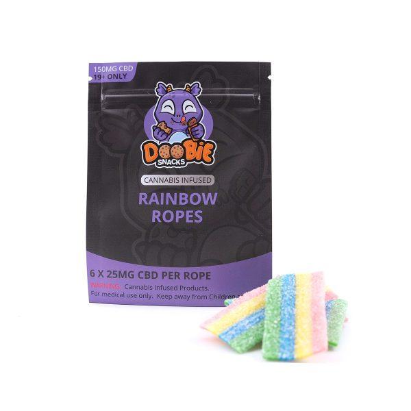 CBD Sour Rainbow 150MG CBD Ropes By Doobie Snacks