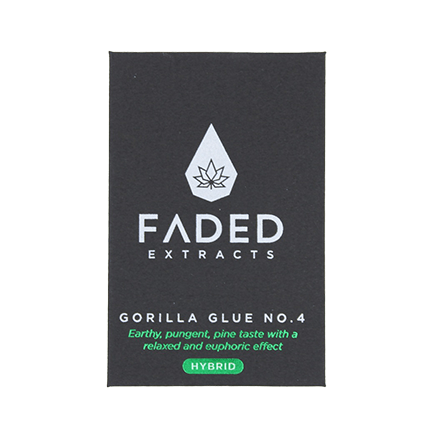 FADED EXTRACT SHATTERS Gorilla Glue No. 4