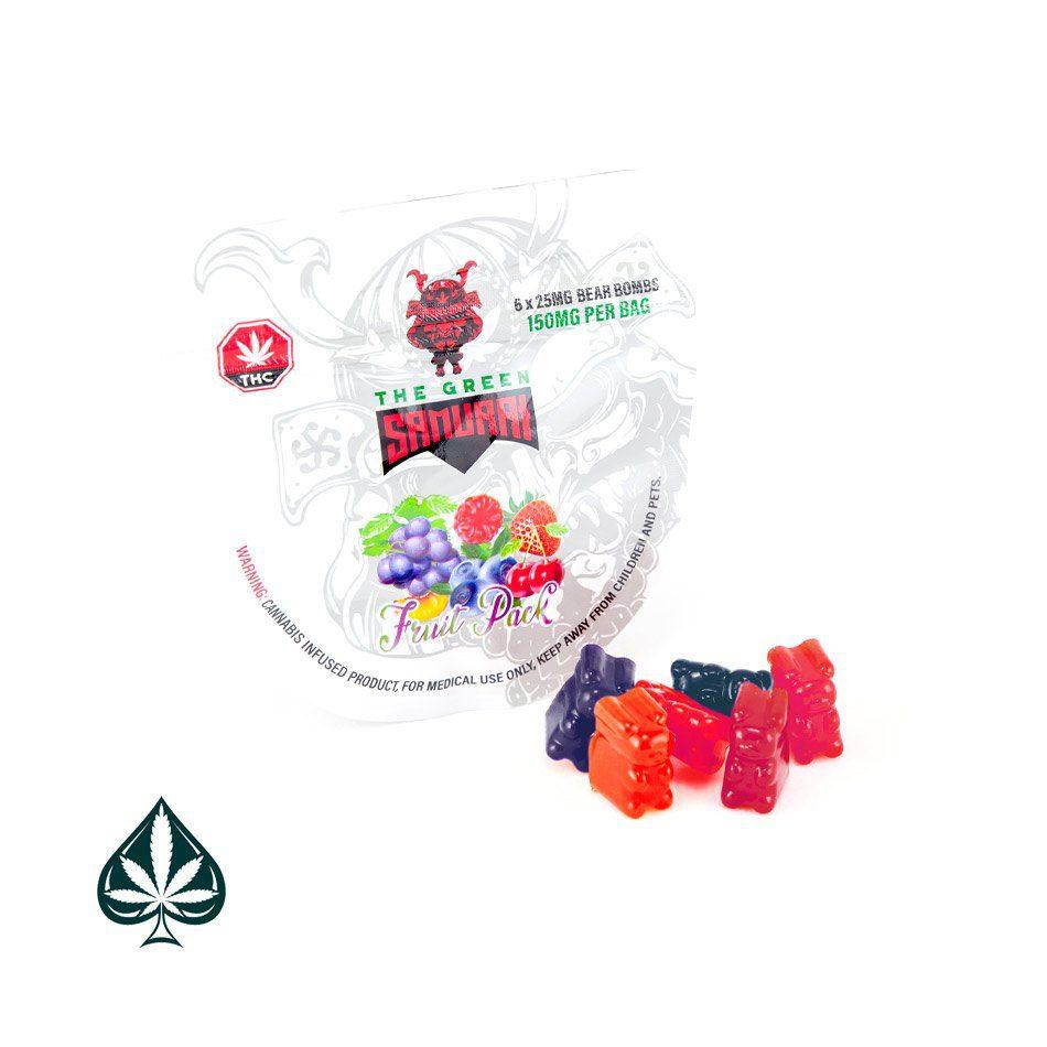 FRUIT PACK BEAR BOMB 150MG THC BY THE GREEN SAMURAI
