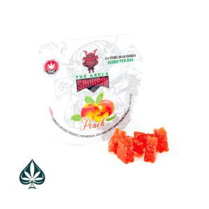 Buy PEACH BEAR BOMB 150MG THC BY THE GREEN SAMURAI