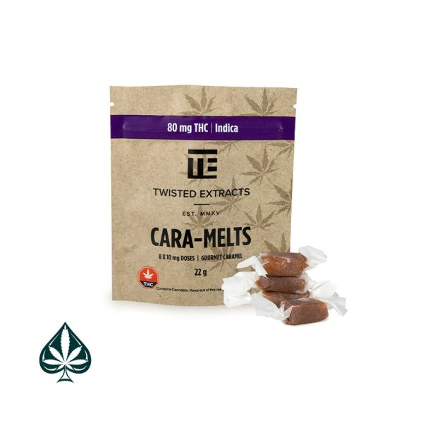 INDICA CARA-MELTS 80MG THC BY TWISTED EXTRACTS