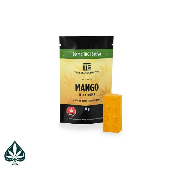 MANGO JELLY BOMB 80MG THC BY TWISTED EXTRACTS