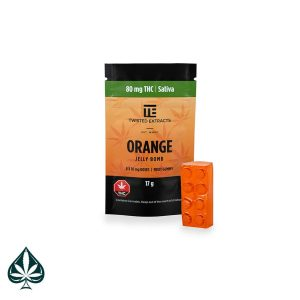 ORANGE JELLY BOMB 80MG THC BY TWISTED EXTRACTS