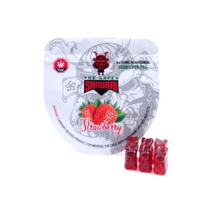 STRAWBERRY BEAR BOMB 150MG THC BY THE GREEN SAMURAI