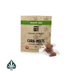 SATIVA CARA-MELTS 80MG THC BY TWISTED EXTRACTS