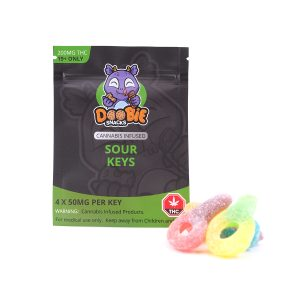 Sour Keys 200MG THC By Doobie Snacks