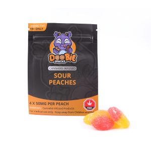 Sour Peaches 200MG THC By Doobie Snacks