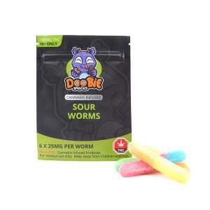 Sour Worms 150MG THC By Doobie Snacks