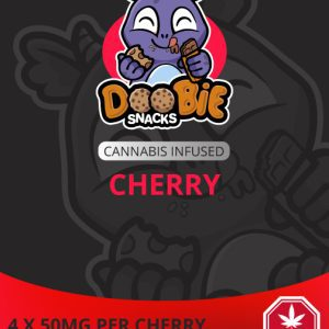 SOUR CHERRY 200MG THC BLASTERS BY DOOBIE SNACKS