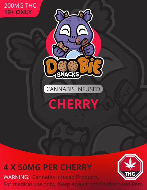 SOUR CHERRY 200MG THC BLASTERS BY DOOBIE SNACKS