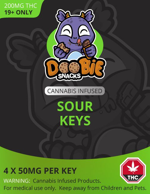 Buy SOUR KEYS 200MG THC BY DOOBIE SNACKS