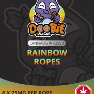 SOUR RAINBOW 150MG THC ROPES BY DOOBIE SNACKS
