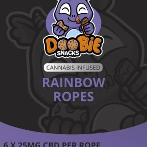 CBD SOUR RAINBOW 150MG CBD ROPES BY DOOBIE SNACKS