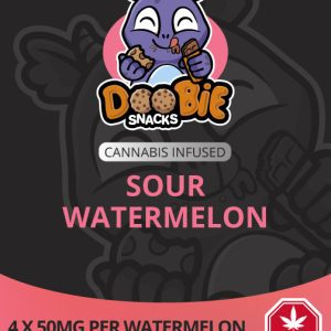 SOUR WATERMELON 200MG THC SLICES BY DOOBIE SNACKS