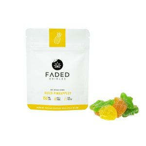 CBD DICED PINEAPPLES-FADED EDIBLES