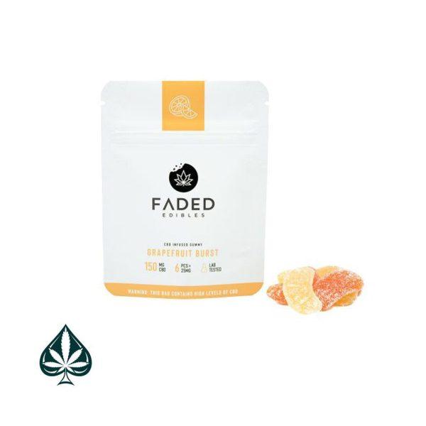 Cbd Grapefruit Bursts 150mg Cbd By Faded Edibles-Buy Faded Edibles Grapefruit Burst