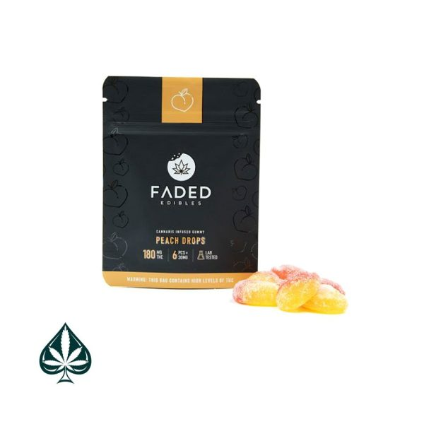 Buy Faded Edibles Peach Drop
