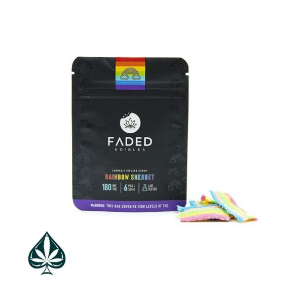Buy Faded Edibles Rainbow Sherbet