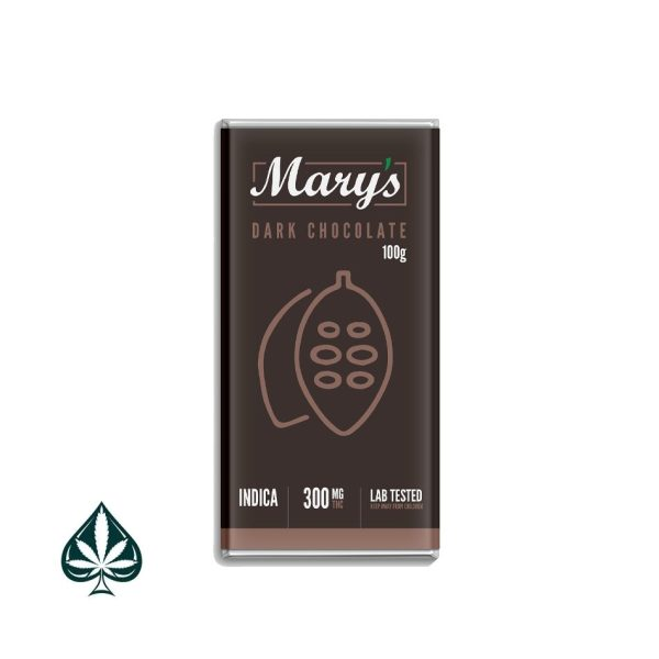 Mary's Dark Chocolate - 300mg Thc