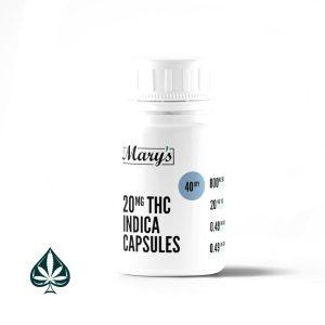 Mary's Sativa THC Capsules 20mg Per Dose