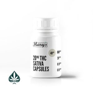 Mary's Sativa THC Capsules 20mg Per Dose