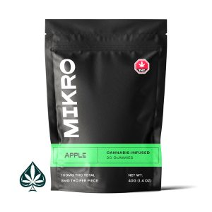 Apple 100MG THC Gummies By Mikro