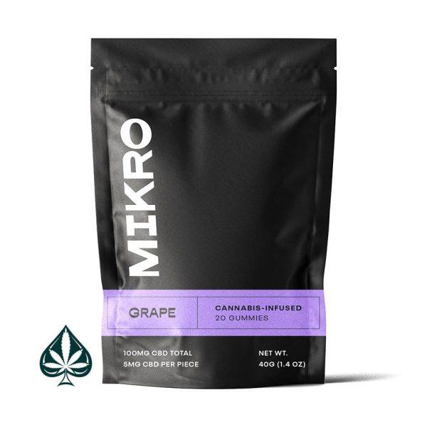 Grape 100MG CBD Gummies By Mikro