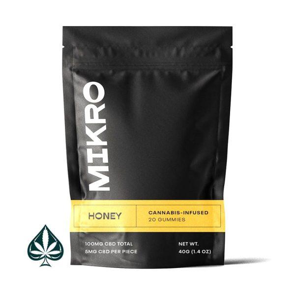 Honey 100MG CBD Gummies By Mikro