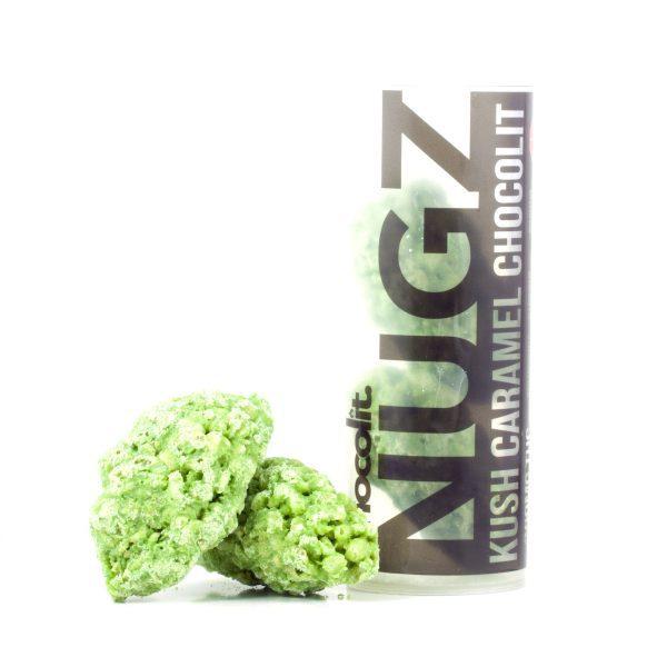 Buy KUSH CARAMEL 200MG THC NUGZ By Chocolit