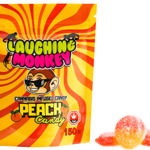 Buy Peach 150MG Gummy By Laughing Monkey