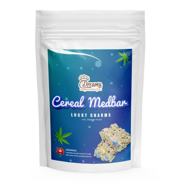 Lucky Charms Cereal Medbar 200MG THC By Dreamy Delite Edibles