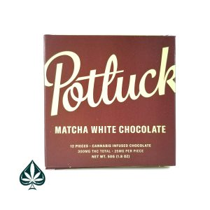 Matcha White Chocolate 300MG THC Chocolate Bar By Potluck Extract