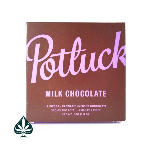 Milk Chocolate 300MG THC Chocolate Bar By Potluck Extracts