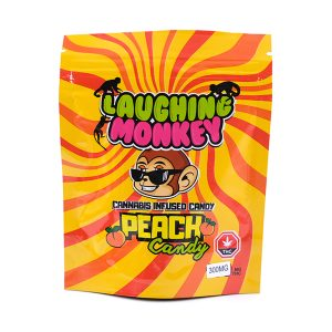 Buy Peach 300MG Gummy By Laughing Monkey