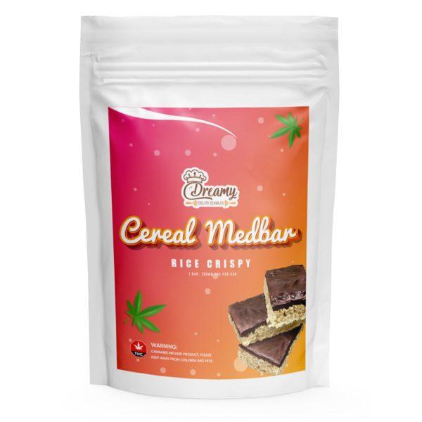 Rice Crispy Cereal Medbar 200MG THC By Dreamy Delite Edibles