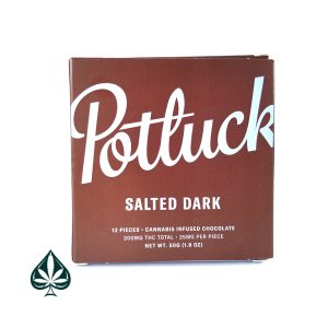 Salted Dark 300MG THC Chocolate Bar By Potluck Extracts