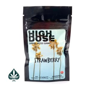 buy strawberry 1500mg high dose cannabis gummies