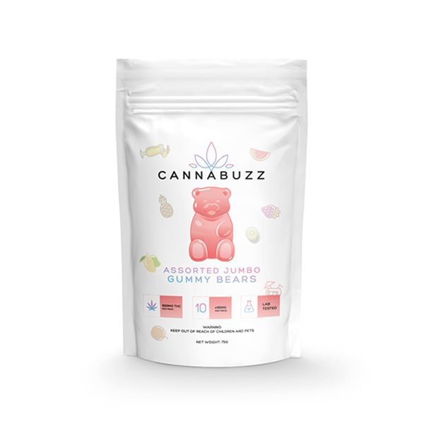 Assorted Jumbo Gummy Bears 1000MG By CannaBuzz