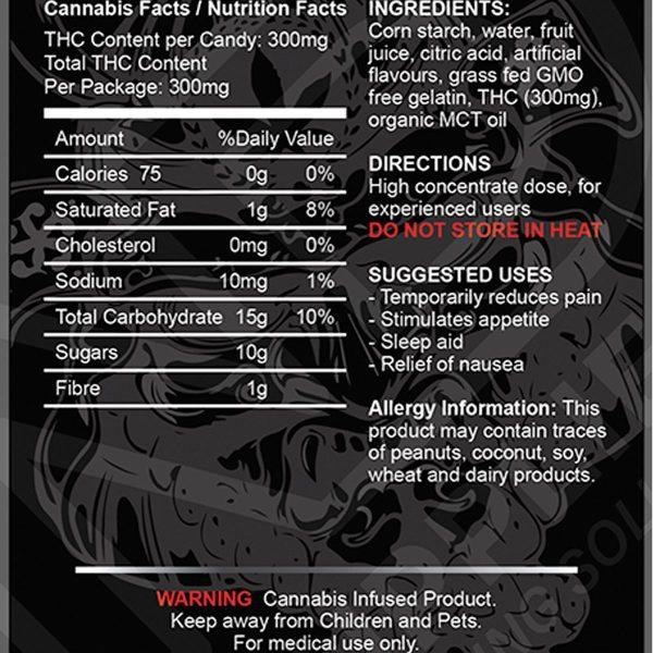 300MG THC Gummy By The Green Samurai