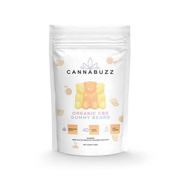 Organic CBD Gummy Bears 1000MG By CannaBuzz