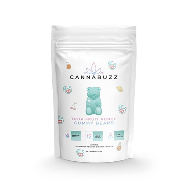 Tropical Fruit Punch 300MG Gummy Bears By CannaBuzz