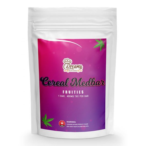 Buy Fruities Cereal Medbars 400mg THC By Dreamy Delite