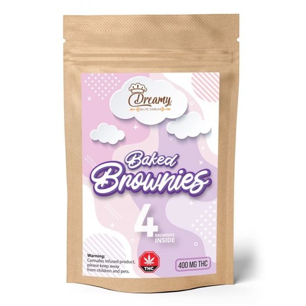 B uy Baked Brownies 400mg THC By Dreamy Delite