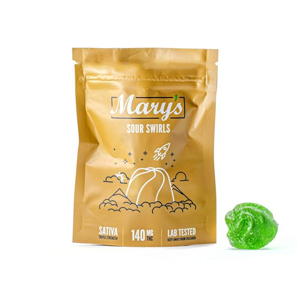 Buy Sour Swirls Sativa 140mg THC By Mary's Medibles