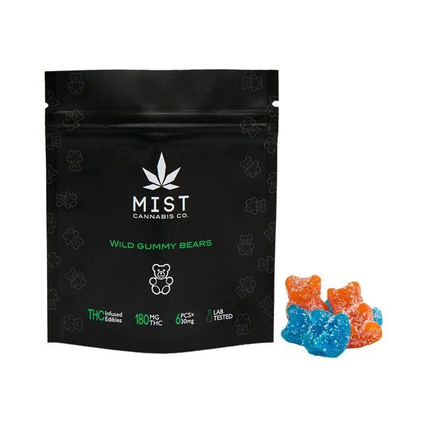 Buy Wild Gummy Bears 180MG THC Gummy By Mist Cannabis Co