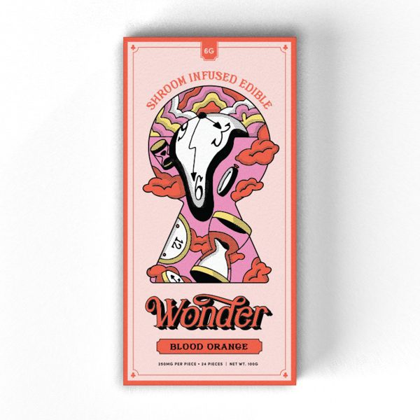 Buy Blood Orange 6G Psilocybin Chocolate Bar By Wonder