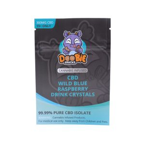Buy Wild Blue Raspberry Crystal Mix 150mg CBD By Doobie Snacks