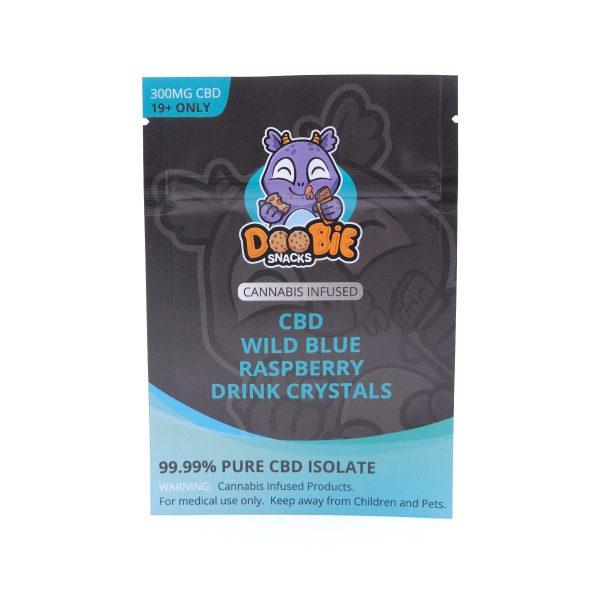 Buy Wild Blue Raspberry Crystal Mix 150mg CBD By Doobie Snacks