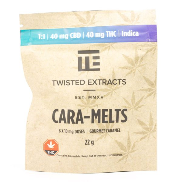 Indica 1:1 Cara-Melts 40mg THC: 40mg CBD = 80mg By Twisted Extract